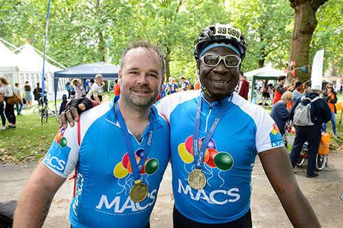 Image shows MACS cyclists
