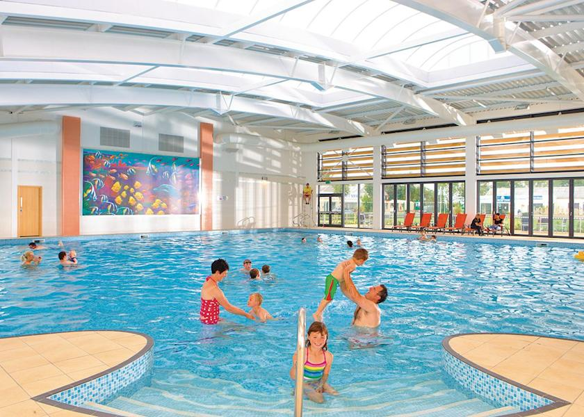 Image shows indoor swimming pool