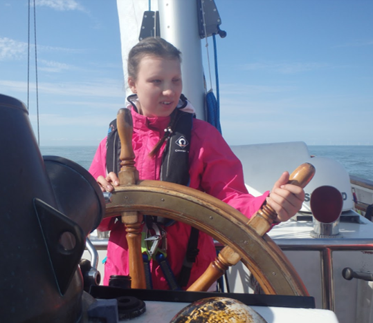 Image shows a MACS young person on a sailing voyage